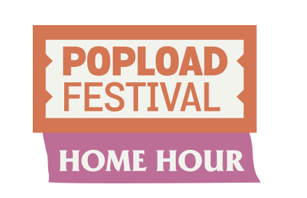 Logo do festival popload home hour